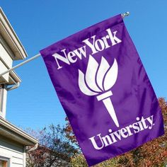 New York NYU University College House Flag by College Flags and Banners Co.. $33.95. New York University House Flag is 28x40 inches in size, is made of Two-Ply Nylon with Liner, has a top sleeve for insertion of a wood or aluminum flagpole, and the Double Sided Licensed NCAA School logos are screen printed into this New York NYU University College House Flag.. Save 13% Off!