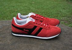 Gola Men's Red Black Trainer Is The Shoe of The Season  #gola #footwear #mensshoes