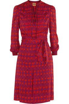 Tory Burch Judi printed stretch-silk dress | NET-A-PORTER