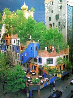 Hundertwasserhaus, Vienna, Austria.