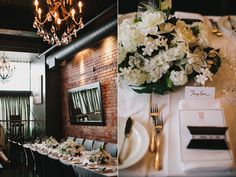 interesting venue for a chic and intimate wedding. Brix restaurant Vancouver