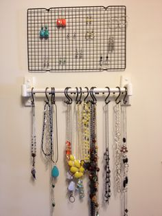 I've got an earring holder, but I love this idea for the necklaces!