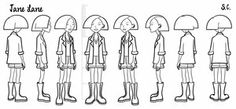 Jane - model sheet by S-C ★ || CHARACTER DESIGN REFERENCES |