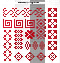 Russian Cross Stitch, 123 Cross Stitch, Cross Stitch Bookmarks, Cross Stitch Heart, Cross Stitch Borders, Crochet Borders, Cross Stitch Alphabet, Cross Stitch Designs, Cross Stitching