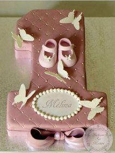 Birthday Cake Ideas for Girls number 1 shape Number Birthday Cakes, 1st Birthday Cake For Girls, Baby Birthday Cakes, Number One Cake, Number Cakes, Cupcakes Decorados, Butterfly Cakes, 1st Birthdays, Girl Cakes