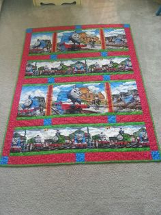 Thomas the Tank Engine quilt.