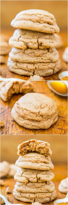 Soft and Puffy Pumpkin Spice Honey Cookies #pumpkin #cookies #dessert