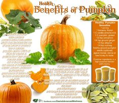 The Benefits of Pumpkin and a good smoothie recipe!