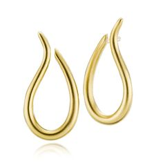 SWAN earrings shaped as open drops that twists like a swan neck in matt gold plated sterling silver. Wear them as they are or together with some of our Add Ons pendants - Danish design jewelry by Izabel Camille. Price: EUR 110 No. A1165g www.izabelcamille.com