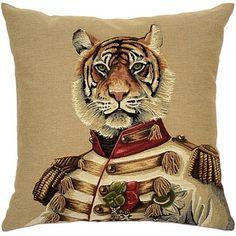 Uniformed Zoo Animals Cushion, Tiger