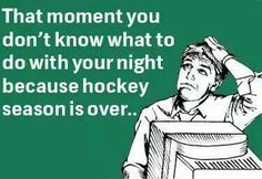 All hockey fans after the Stanley Cup finals Hockey Baby, Field Hockey, Ice Hockey, Hockey Memes, Hockey Quotes, Funny Hockey, Blackhawks Hockey, Chicago Blackhawks, Quotes Girlfriend