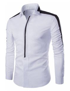 Cheap mens dress shirts, Buy Quality casual shirt men directly from China dress shirt Suppliers: Men Dress Shirt Long Sleeve Casual Shirt Men Concealed Zipper Chemise Homme Fitness Hit Color Business Men Shirt Camisas African Clothing For Men, African Shirts, African Men Fashion, Korean Fashion, Smart Casual Shirts, Mens Designer Shirts, New Mens Fashion, Men's Fashion, Kurta Designs