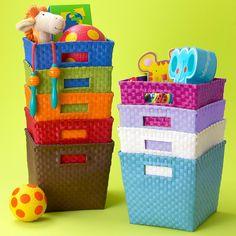 Kids' Storage Containers: Kids Canvas Cube Storage Bin in All Storage