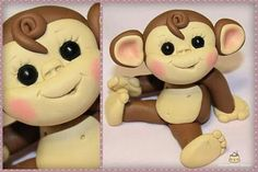 Fimo kawaii monkey