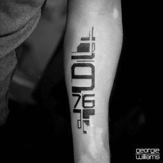 numbers tattoo on arm