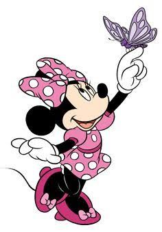 Clip art of Minnie Mouse chatting on the phone Minnie Mouse Clipart, Minnie Mouse Theme, Mickey Mouse And Friends, Disney Clipart, Mini Mickey, Disney Mickey, Disney Art, Walt Disney, Retro Disney