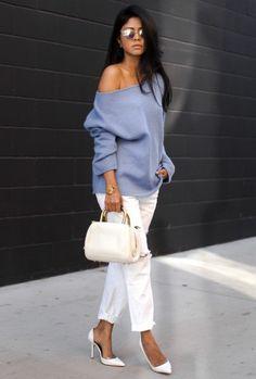 летний лёгкий джемпер, летняя мода 2015, модные тенденции 2015, стильный образ на каждый день, уличный стиль лето, MsKnitwear, knitwear, knitting (фото 12)