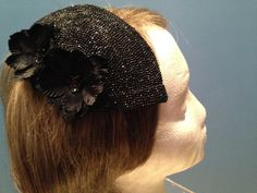 Black Fascinator Fascinator Hat Floral by GwenOffuttDesigns