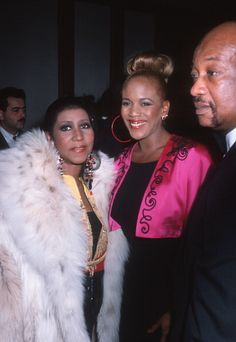 Singer Aretha Franklin and Toukie Smith attend Night of 100 Stars Gala on May 5 1990 at Radio City Music Hall in New York City
