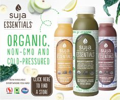 Suja Essentials Juice - Organic, Non-GMO and Cold-Pressured