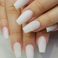 Nail art is a very popular trend these days and every woman you meet seems to have beautiful nails. It used to be that women would just go get a manicure or pedicure to get their nails trimmed and shaped with just a few coats of plain nail polish. Nagellack Design, New Year's Nails, Nails For New Years, S And S Nails, Nagel Gel, Best Acrylic Nails, Winter Acrylic Nails, Ballerina Acrylic Nails, Gorgeous Nails