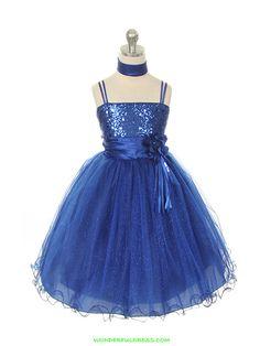 blue little girls dresses | Flower Girl Dresses, Communion Dresses, Pageant Dresses - Royal Blue ...