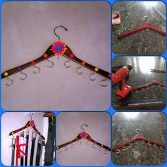 DIY Hanger Organizer . You can hang your bras, purses, belts etc.