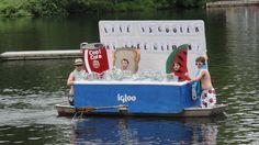 Boat Decorating Ideas Awesome Life is Cooler at Lake Gilman Boat Float Parade Contest 4th Of July Parade, Fourth Of July, Homecoming Floats, Boat Parade, Parade Floats, Boat Decor, Boat Safety, Best Boats, Old Boats