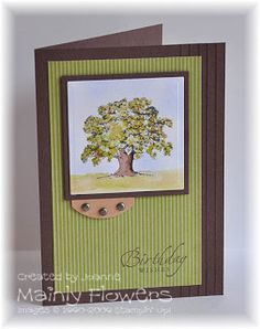 Mainly Flowers Independent Stampin' Up! Demonstrator Joanne Gelnar: Birthday Oak Make and Take