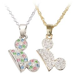 Pavé Mickey Mouse Ear Hat Necklace   Item No.7501002529031M  Read All Reviews (15)  Our Price:$28.95   Select Color:SILVER