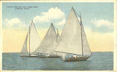 Lorain,OH. Early Yacht Racing on Lake Erie