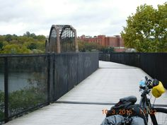 Bridge crossing the Monongahela River  into McKeesport, PA.  (The Great Allegheny Passage Trail)