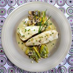 French fillet of sole with wine white sauce! Greek Recipes, Fish Recipes, Seafood Recipes, Recipies, Cooking Recipes, Greek Cooking, Wine Sauce, Fish And Seafood, Risotto