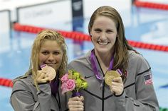 Franklin and Beisel place first and third in the women's 200m backstroke final