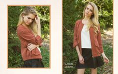 Look 9: Brick Rust Bomber Jacket with Suede/Leather Pleated Skirt #fw2015 #lookbook #cluce