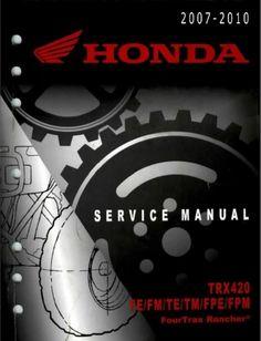 407 best repair manuals save and just fix it yourself images rh pinterest com Honda Rancher Manual PDF Honda Rancher 350 Owner's Manual