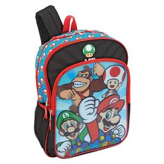 Nintendo Super Mario and Friends Lenticular 16-Inch Backpack