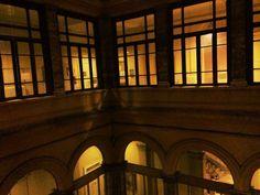 Hospital courtyard windows Rome italy