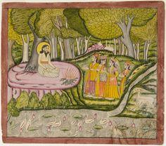 Angels Visit the Sage Sultan Ibrahim ibn-Adham of Balkh.  Artist/maker unknown…