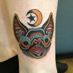 First time I have seen a bat done in this traditional style. I really like the look of it.