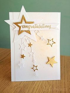 I could adapt Birthday: Step It Up - Take 2 Birthday Cards, 4th Birthday, Star Cards, Stamping Up Cards, Congratulations Card, Card Making Inspiration, Greeting Cards Handmade, Graduation Cards Handmade, Creative Cards
