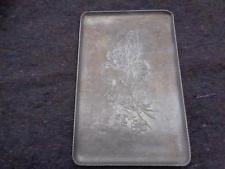 Vintage Everlast Aluminum Serving Tray Handhammered Hand Forged Floral Design