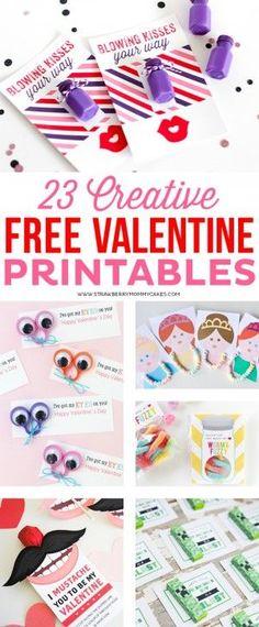 23 Creative and FREE Valentine Printables
