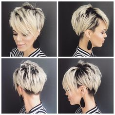I'm always surprised + super flattered when I get messages from strangers asking for pictures to take into their stylist of my hair. Short Blonde Pixie, Short Hair Cuts, Short Hair Styles, Pixie Cuts, Short Bob Hairstyles, Cool Hairstyles, Hair Dos, My Hair, Pixie Haircut