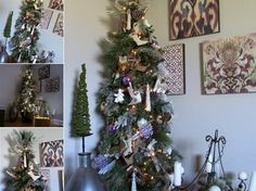 Beautiful Rustic Holiday Tree @ Rustic-refined.com