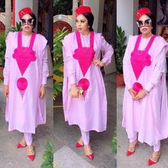 Latest Agbada Styles For Ladies In 2019 - Manly 24 Latest African Fashion Dresses, African Men Fashion, Africa Fashion, African Beauty, African Women, Ankara Fashion, African Attire, African Wear, African Dress