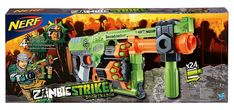 New Nerf Zombie Doominator Info was released out into the wild, come check it out. I've got a couple of new pictures to show you, including box art. Nerf Gun Attachments, Pistola Nerf, Zombie Guns, Minecraft Bedroom Decor, Cool Nerf Guns, Nerf War, Fun Games For Kids, One With Nature, Game Costumes
