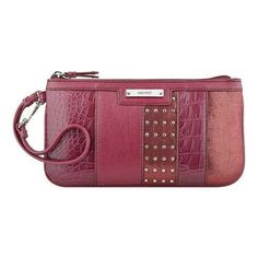 Shop for Women's Nine West Pretty Little Things Wristlet EW Crimson. Get free delivery On EVERYTHING* Overstock - Your Online Handbags Outlet Store! Nine West Purses, Red Clutch, Red Handbag, Red Purses, Fabric Bags, Little Things, Pretty Little, Shoe Bag, Wristlets
