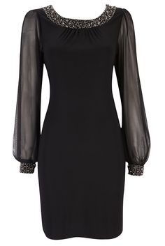 Black Embellished Holiday Dress