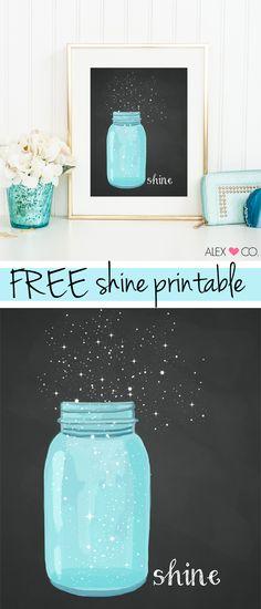 Free Mason Jar Printable - how cute is this?!?